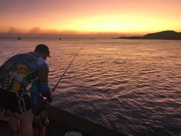Fishing off Seisa Peir. Photo courtesy of Steph Stewart.