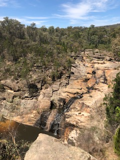 The amazing Woolshed Falls.