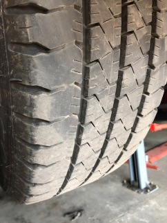 Check the tyres tread depth.